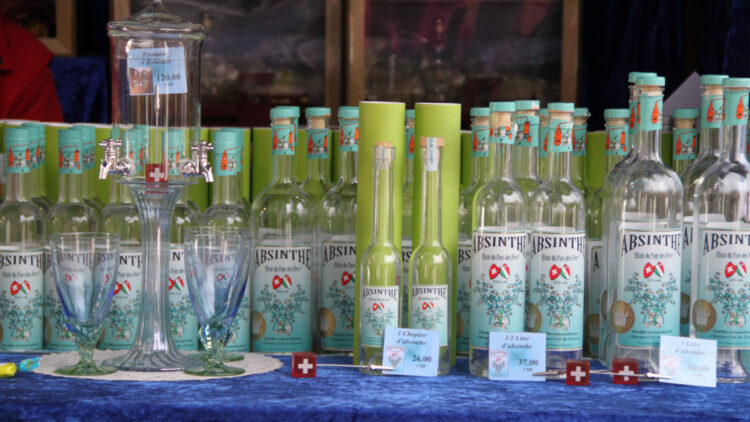 Absinthe Sold at the Montreux Christmas Market