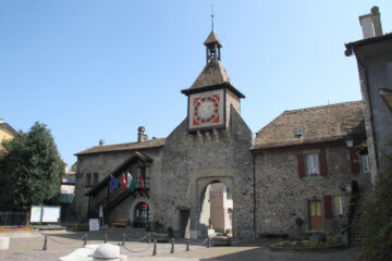Clock Tower Town Gate of St Prex
