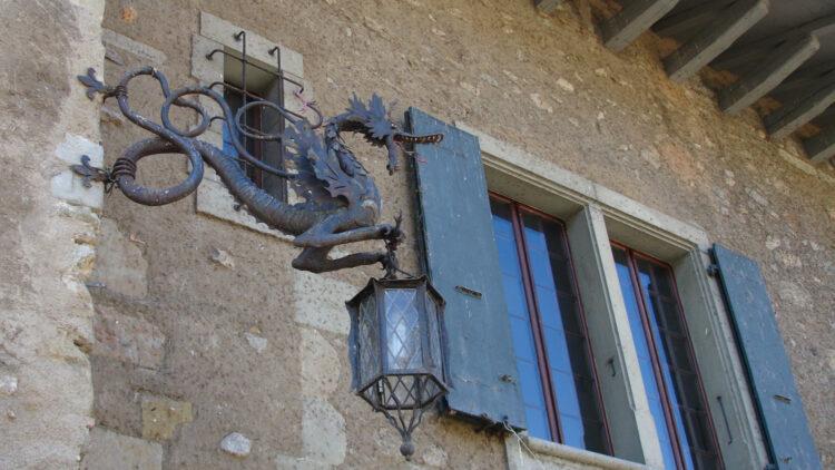 Wrought iron Dragon in St Prex