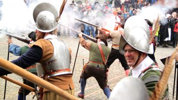 Shooting Muskets, Escalade Festival in Geneva, Switzerland