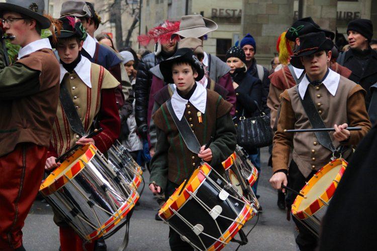 Boy Drummers Escalade Festival in Geneva, Switzerland
