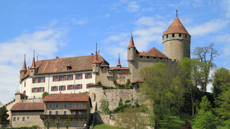 Chateau Lucens near Lausanne in Switzerland