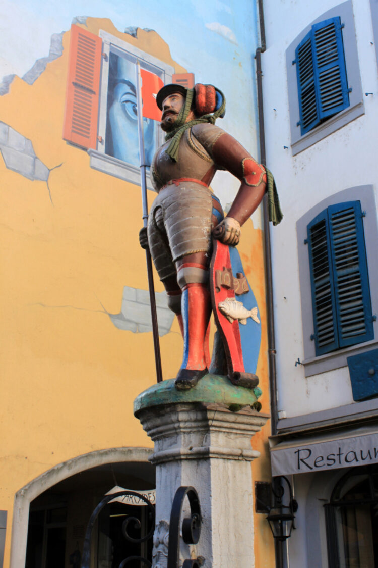 Maître Jacques Statue in Nyon, Switzerland