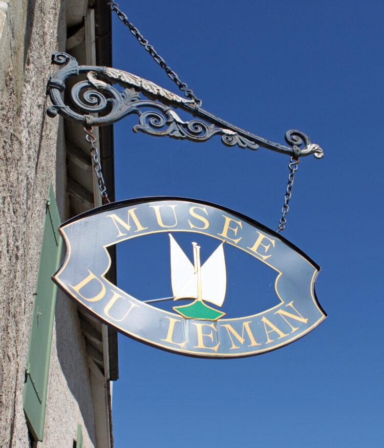 Musée du Léman Sign in Nyon, Switzerland