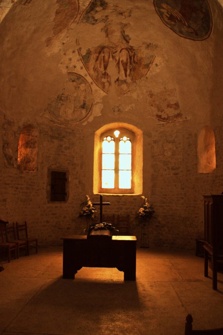 Romanesque St Sulpice Church Interior