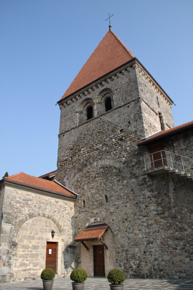 Romanesque St Sulpice Church Tower