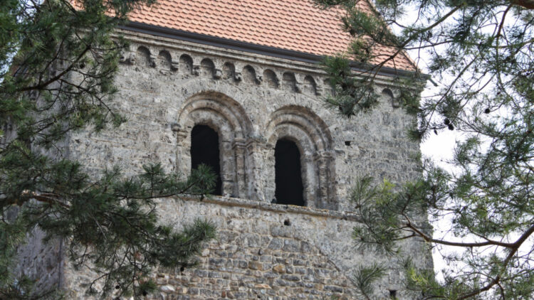 Romanesque St Sulpice Church Detail