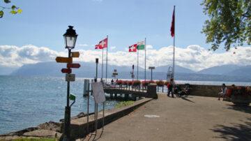 St Prex Lake Geneva Boat Landing