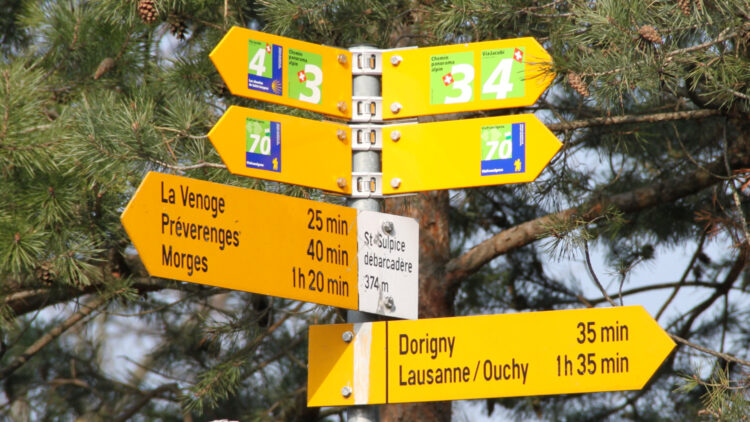 Hiking times from St Sulpice