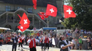 Swiss Flag Throwing