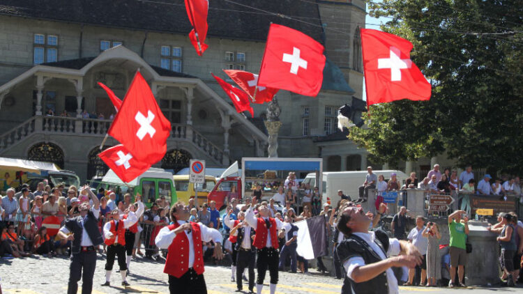 Swiss Flag Throwing