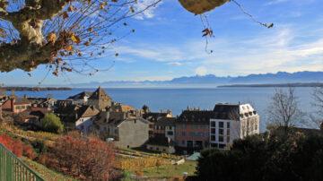 Views of Nyon Rive and Lake Geneva