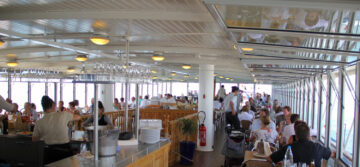 First-class restaurant on SS La Suisse