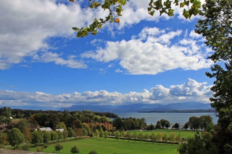 View of Lake Geneva from Chateau de Prangins